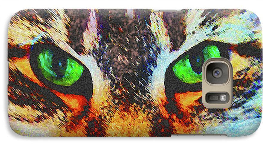 Emerald Gaze Galaxy S7 Case featuring the digital art Emerald Gaze by John Beck