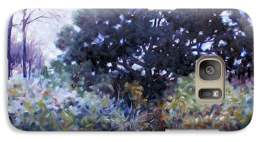 Landscape Galaxy S7 Case featuring the painting Empty Lot by Kevin Lawrence Leveque
