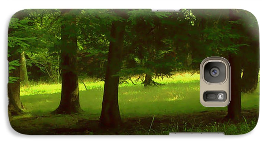 Nature Galaxy S7 Case featuring the photograph Enchanted Forest by Linda Sannuti