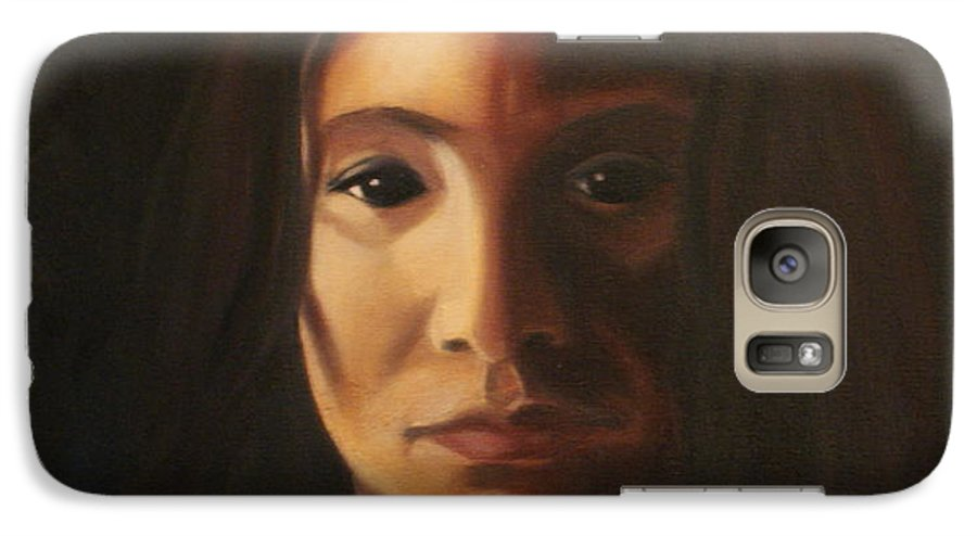 Woman In The Dark Galaxy S7 Case featuring the painting Endure by Toni Berry