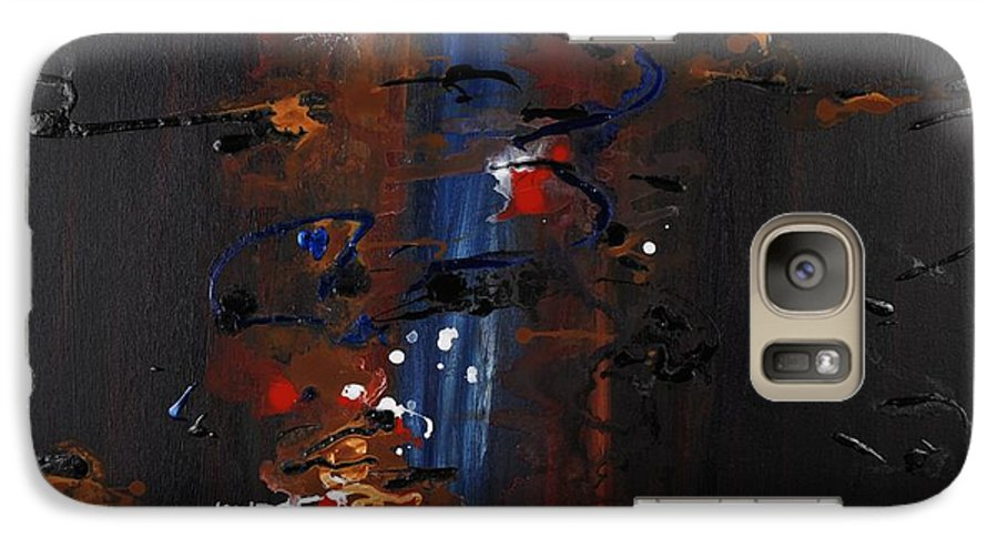 Black Galaxy S7 Case featuring the painting Energy by Nadine Rippelmeyer
