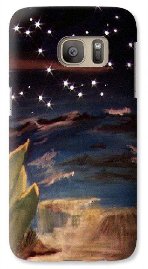 Surreal Galaxy S7 Case featuring the painting Enter My Dream by Steve Karol
