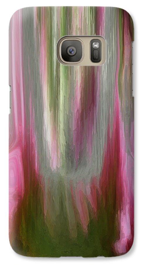 Abstract Art Galaxy S7 Case featuring the digital art Entrance by Linda Sannuti