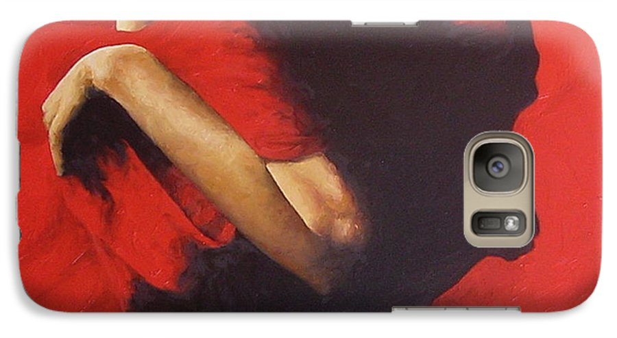 Oil Painting Original Canvas Linen Nude Figurative Traditional Realistic Galaxy S7 Case featuring the painting Entrapped by Trisha Lambi