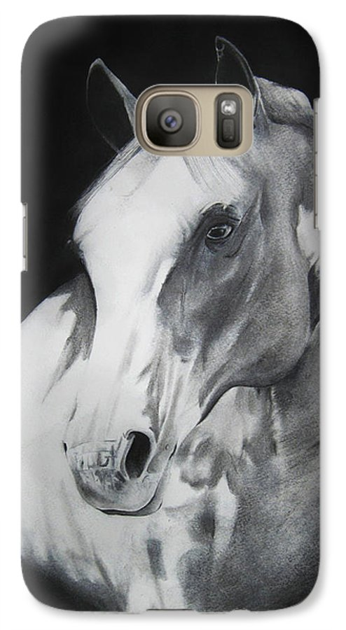 Horse Galaxy S7 Case featuring the drawing Equestrian Beauty by Carrie Jackson