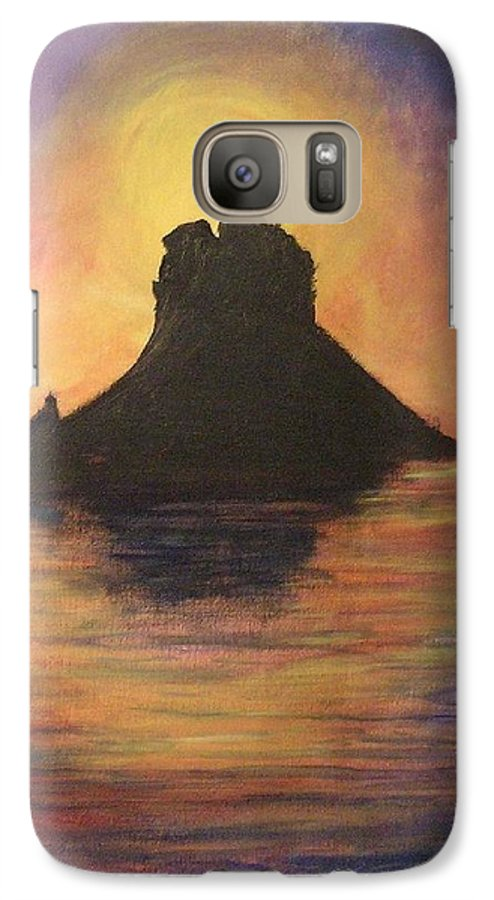 Sunset Galaxy S7 Case featuring the painting Es Vedra Sunset I by Lizzy Forrester