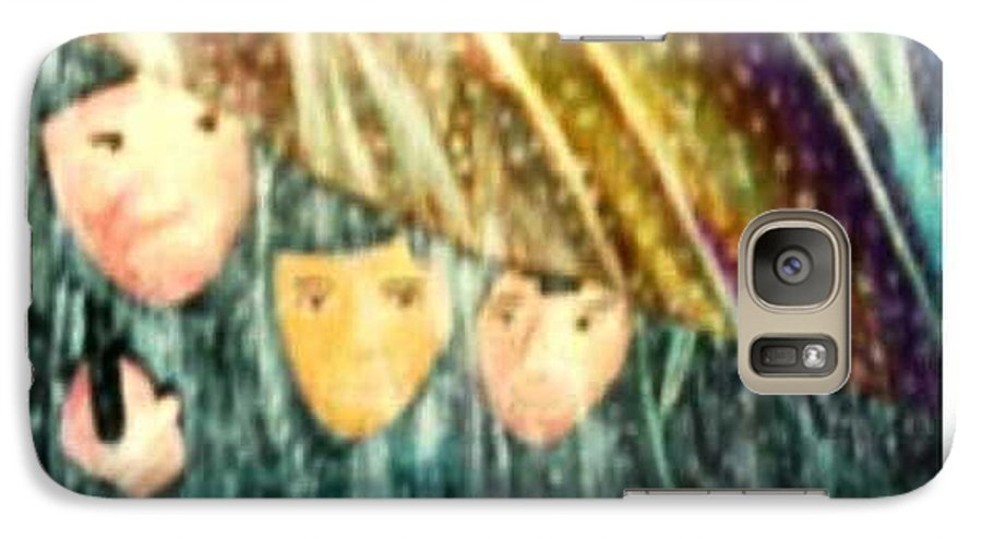 Portrait Galaxy S7 Case featuring the painting Escape From The Rain by Brenda L Spencer