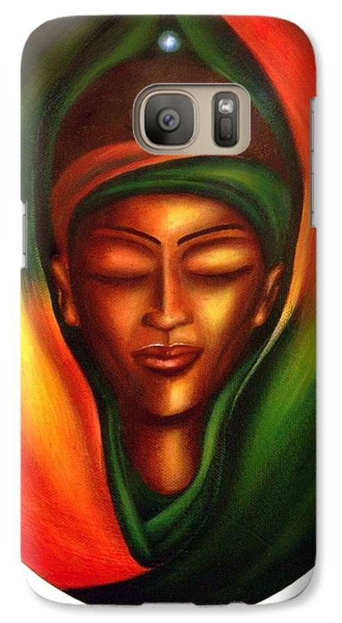 Beauty Galaxy S7 Case featuring the painting Essence by Lee Grissett