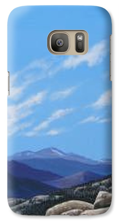 Estes Park Galaxy S7 Case featuring the painting Estes Overlook by Hunter Jay