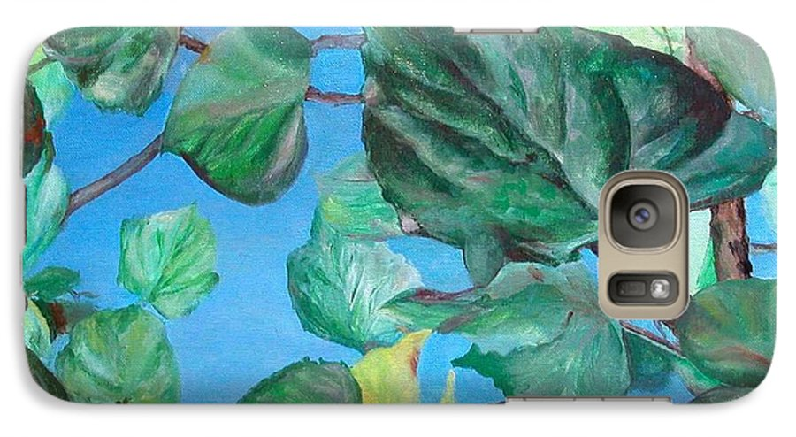 Floral Painting Galaxy S7 Case featuring the painting Ete by Muriel Dolemieux