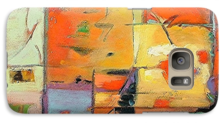 Abstract Painting Galaxy S7 Case featuring the painting Evening Light by Gary Coleman