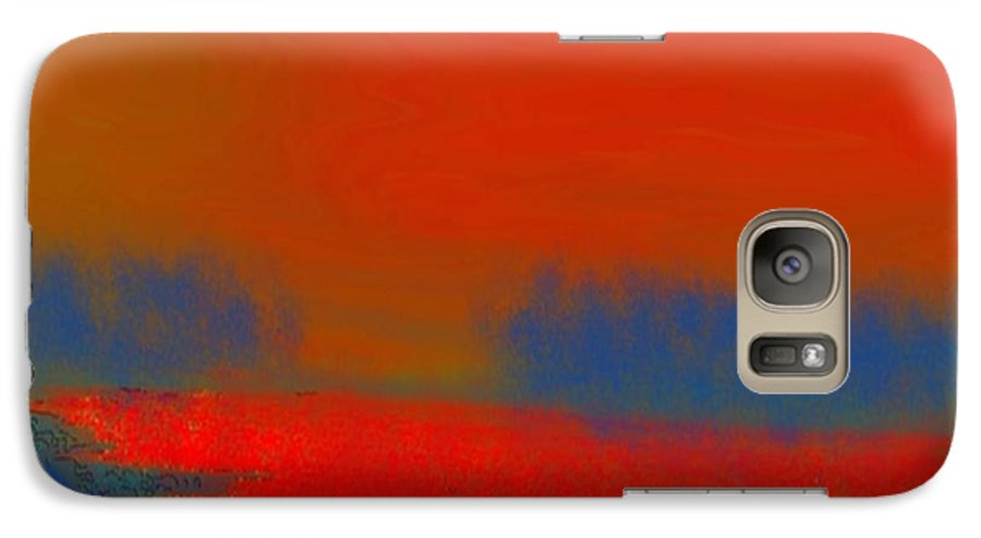 Sunset Galaxy S7 Case featuring the digital art Evening Way To Dead Sea.fire Sunset by Dr Loifer Vladimir