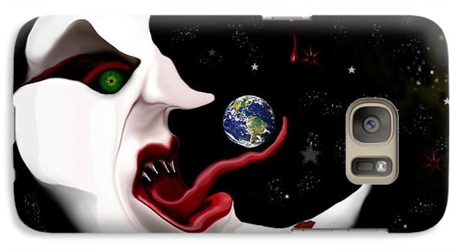 Moon Galaxy S7 Case featuring the digital art Evil Moon by Ruben Flanagan