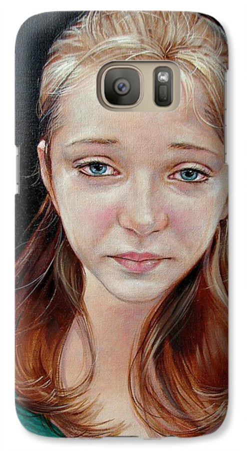 Sadness Galaxy S7 Case featuring the painting Experience Of Loss 2004 by Jerrold Carton