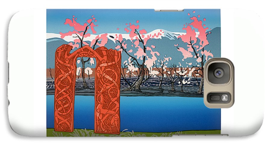 Landscape Galaxy S7 Case featuring the mixed media Exploration. by Jarle Rosseland