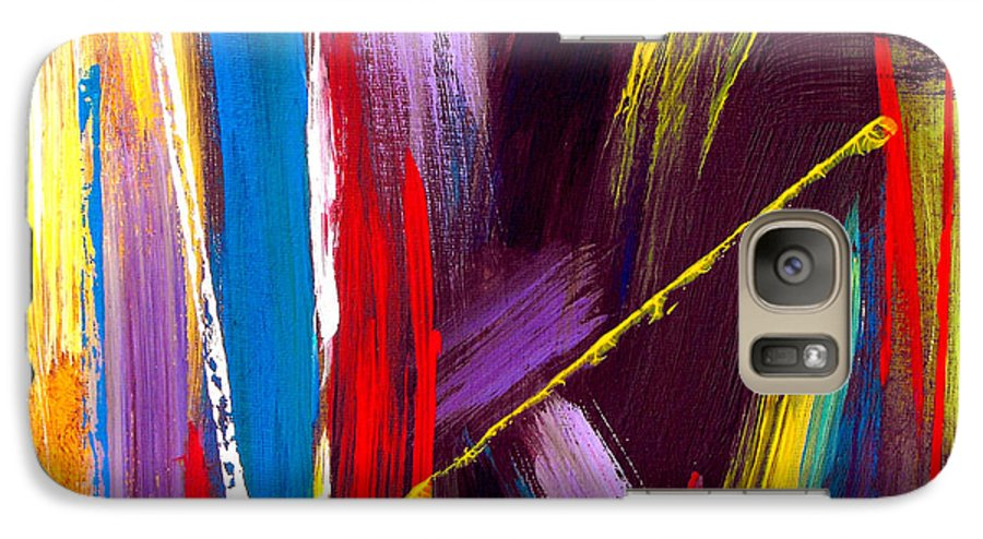 Abstract Galaxy S7 Case featuring the painting Express Yourself by Ruth Palmer