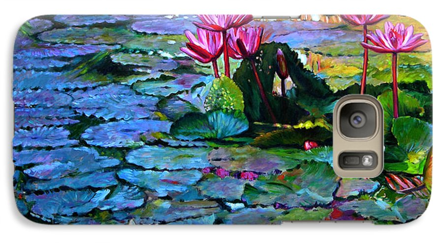 Landscape Galaxy S7 Case featuring the painting Expressions From The Garden by John Lautermilch
