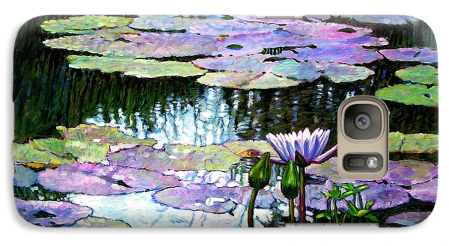 Landscape Galaxy S7 Case featuring the painting Expressions Of Love And Peace by John Lautermilch
