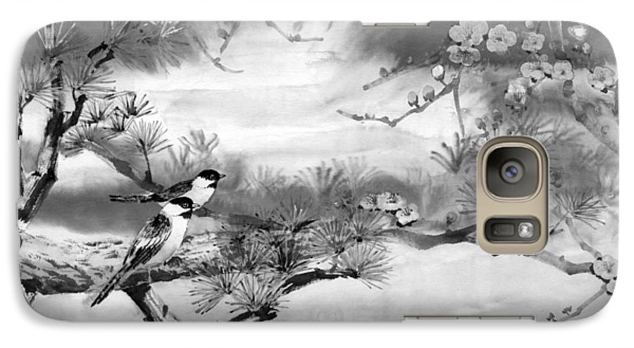 Chinese Painting Galaxy S7 Case featuring the painting Expressions Of Spring by Eileen Fong