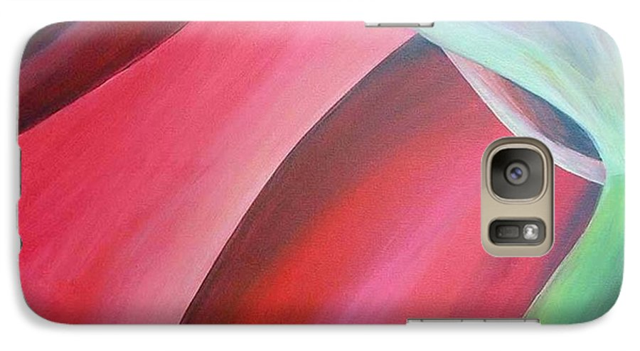 Flower Galaxy S7 Case featuring the painting Extrait by Muriel Dolemieux