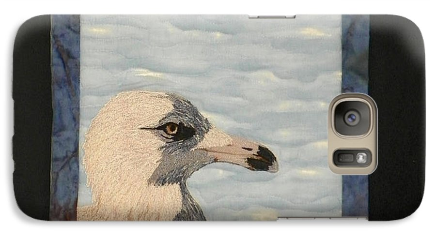 Birds Galaxy S7 Case featuring the tapestry - textile Eye Of The Gull by Jenny Williams