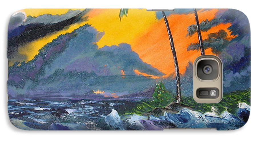 Knifework Galaxy S7 Case featuring the painting Eye Of The Storm by Susan Kubes