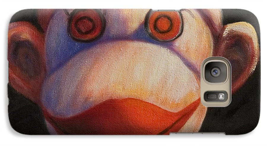 Children Galaxy S7 Case featuring the painting Face by Shannon Grissom