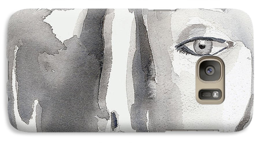 Faces Galaxy S7 Case featuring the painting Faces by Arline Wagner