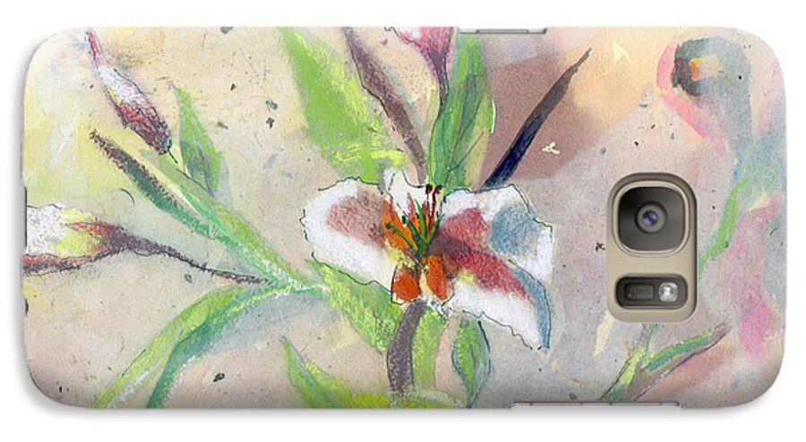 Flower Galaxy S7 Case featuring the painting Faded Lilies by Arline Wagner