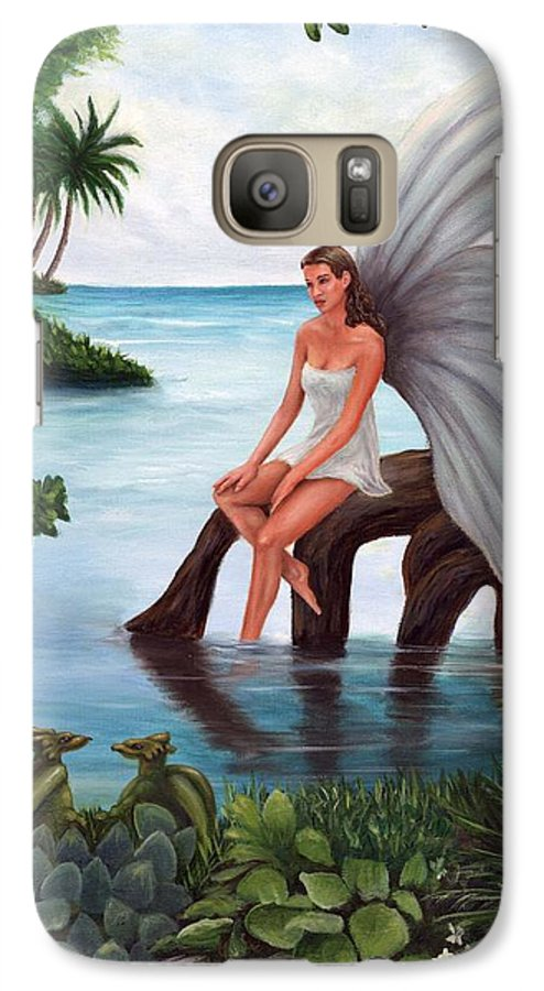 Fairies Galaxy S7 Case featuring the painting Fairies Glade by Anne Kushnick