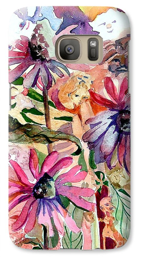Daisy Galaxy S7 Case featuring the painting Fairy Land by Mindy Newman