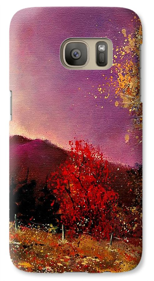 River Galaxy S7 Case featuring the painting Fall Colors by Pol Ledent
