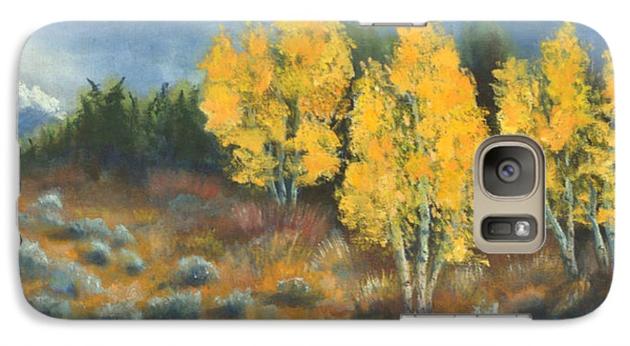 Landscape Galaxy S7 Case featuring the painting Fall Delight by Jerry McElroy
