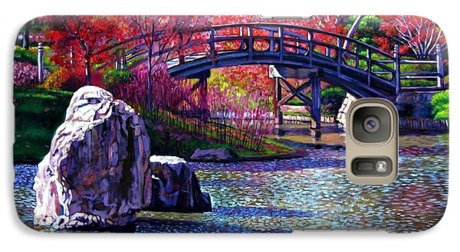 Garden Galaxy S7 Case featuring the painting Fall In The Garden by John Lautermilch