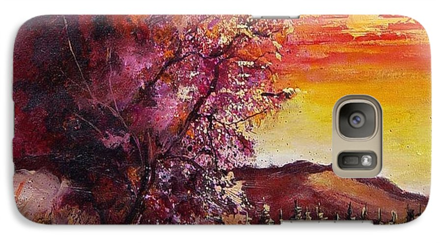 Autumn Galaxy S7 Case featuring the painting Fall In Villers by Pol Ledent