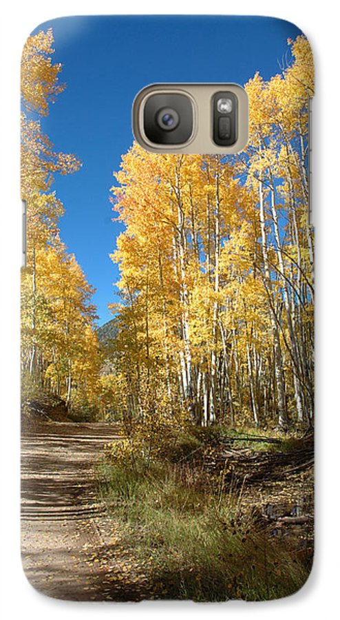 Landscape Galaxy S7 Case featuring the photograph Fall Road by Jerry McElroy