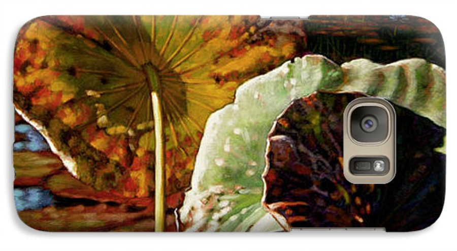 Fall Leaves Galaxy S7 Case featuring the painting Fall Trinity by John Lautermilch