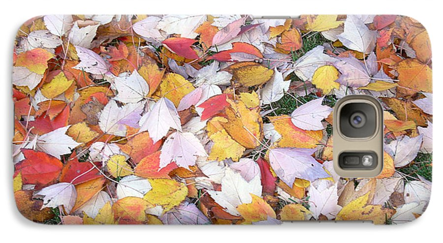 Photography Fall Autum Leaves Galaxy S7 Case featuring the photograph Fallen Fantasy by Karin Dawn Kelshall- Best