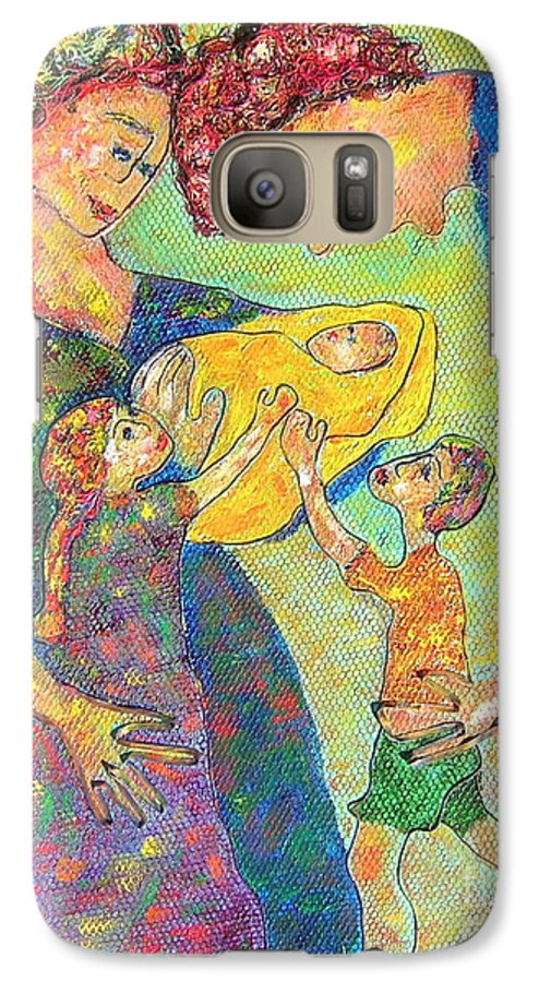 Family Enjoying Each Other Galaxy S7 Case featuring the painting Family Matters by Naomi Gerrard