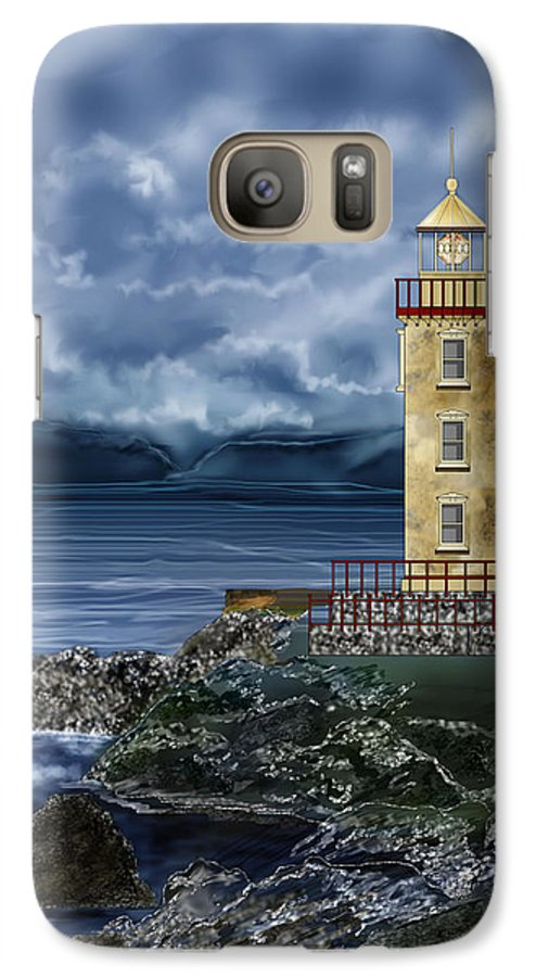 Lighthouse Galaxy S7 Case featuring the painting Fanad Head Lighthouse Ireland by Anne Norskog