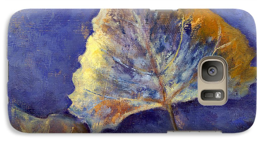 Leaves Galaxy S7 Case featuring the painting Fanciful Leaves by Chris Neil Smith