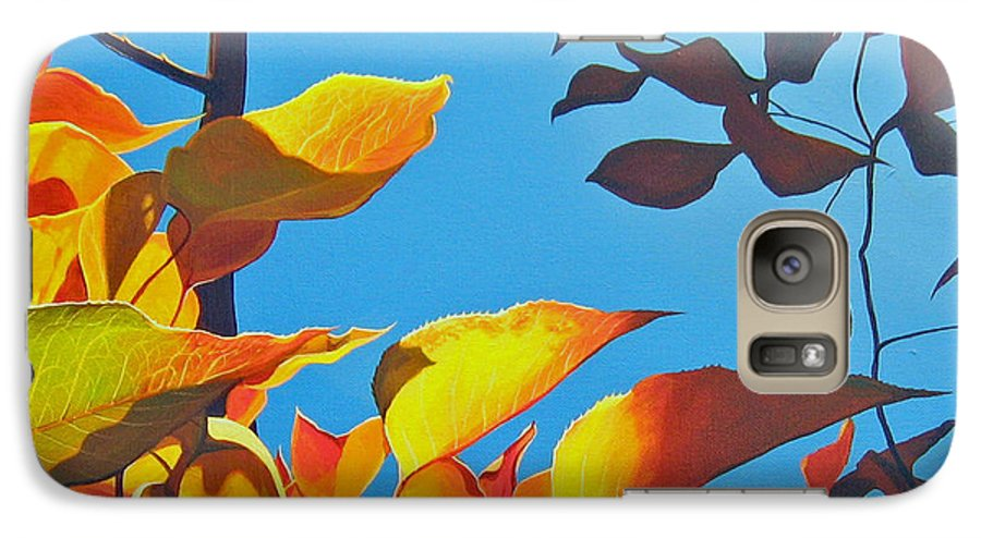Fall Galaxy S7 Case featuring the painting Farewell To Summer by Hunter Jay