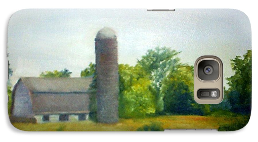 Farm Galaxy S7 Case featuring the painting Farm In The Pine Barrens by Sheila Mashaw