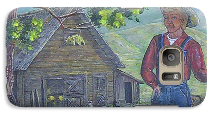 Barn Galaxy S7 Case featuring the painting Farm Work II by Phyllis Mae Richardson Fisher