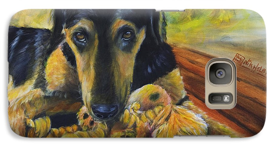 Dog Galaxy S7 Case featuring the painting Favorite Things by Nik Helbig