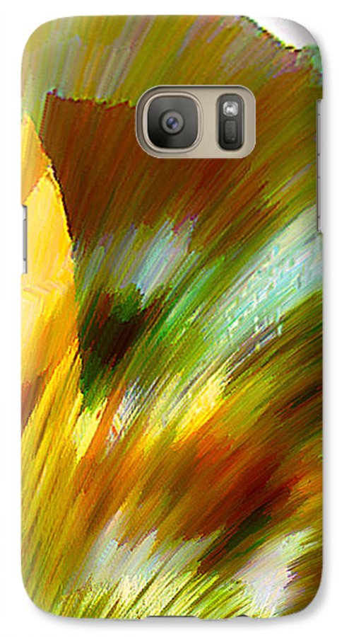 Landscape Digital Art Watercolor Water Color Mixed Media Galaxy S7 Case featuring the digital art Feather by Anil Nene