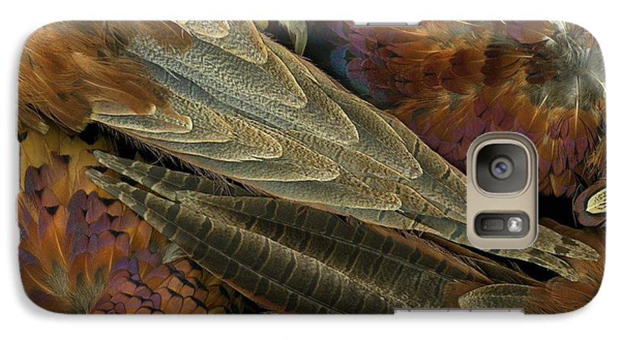 Pheasant Galaxy S7 Case featuring the photograph Featherdance by Christian Slanec