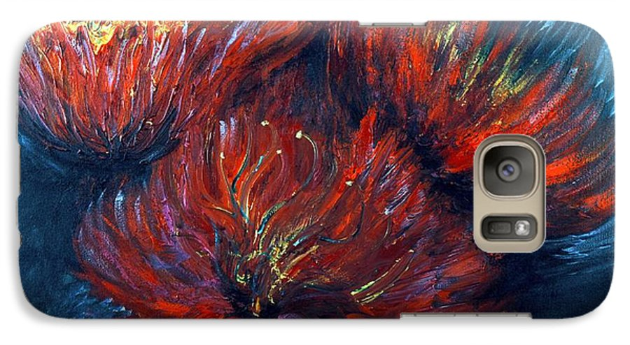 Abstract Galaxy S7 Case featuring the painting Fellowship by Nadine Rippelmeyer