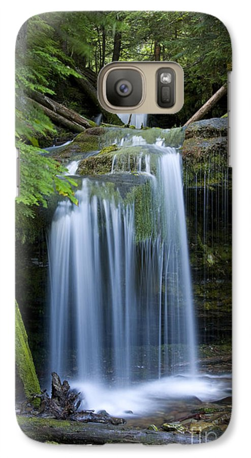 Waterfalls Galaxy S7 Case featuring the photograph Fern Falls by Idaho Scenic Images Linda Lantzy