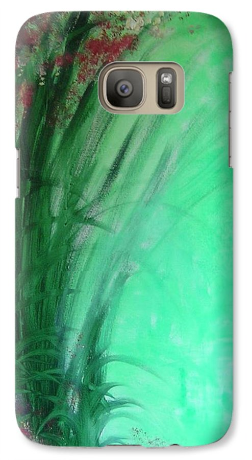 Green Ferns Galaxy S7 Case featuring the painting Ferns by Lizzy Forrester